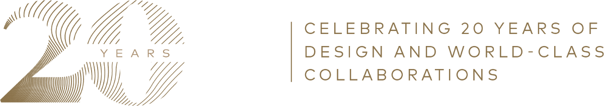 celebrating 20 years of design and world-class collaboration